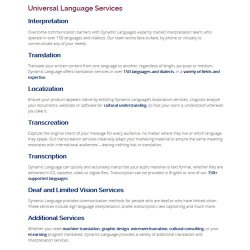 Dynamic Language image: This agency provides services for the deaf and those with limited vision.