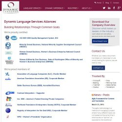 Dynamic Language image: This service uses accredited translations and certified processes.