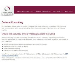 Dynamic Language image: Cultural consulting assures your message is accurate anywhere in the world.
