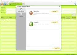 inFlow image: With inFlow, you can integrate with different apps such as Shopify or Magento.
