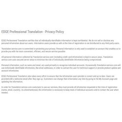 EDGE Professional Translation image: EDGE is committed to keeping your personal information safe.