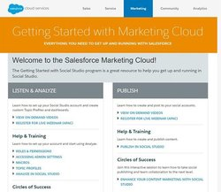 Salesforce image: The support section contains training videos, forums and live webinars.