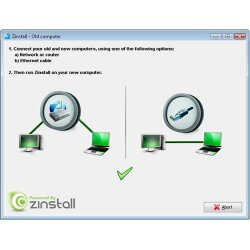 If you are migrating between two computers, you can connect them by an Ethernet cable or through a network.