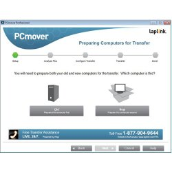 PCmover walks you through each step of the process.