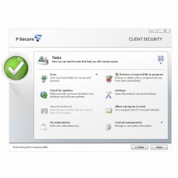 F-Secure Business Suite screenshot image: tasks
