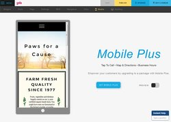 From your desktop, you can view what your website will look like on a mobile device.