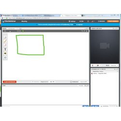 ClickWebinar image: In addition to the standard meeting tools, this service also has a whiteboard to promote collaboration.