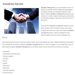 Reputation Management LLC image: This company works with clients in with a wide range of industries.