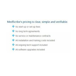 MedScribe image: You don't have to pay startup fees or sign a long-term contract to use this service.