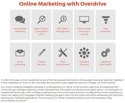 Overdrive image: You can choose from different packages and services depending on your company's goals.
