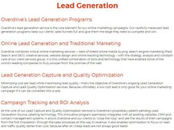 Overdrive image: You can read about its lead generation services on its website so you understand how it can work for your company.