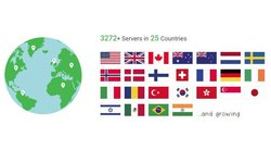 Private Internet Access VPN has over 3,200 servers in 25 countries.