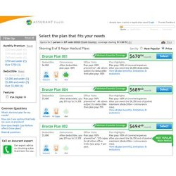 Assurant image: This health insurance site gives you the best plans that fit the information you put in the questionnaire.
