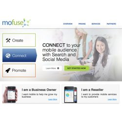 MoFuse image: This screenshot shows the main page for MoFuse's service.