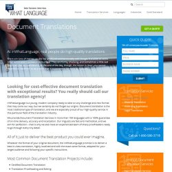 inWhatLanguage image: The company provides a wide range of document translation services.