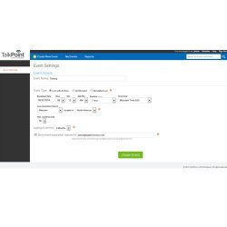 TalkPoint image: It is easy to set up webcasts using this service.