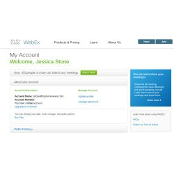 Cisco WebEx image: You can upgrade your plan at any time to fit the needs of your webcasting.