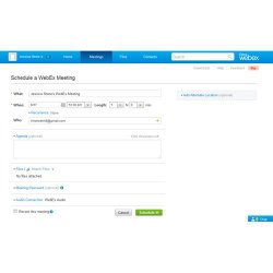 Cisco WebEx image: This platform offers an easy way to create custom webcasts using the online form.