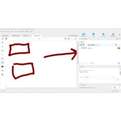 Cisco WebEx image: In addition to sharing applications, screens or slideshows, you can use the whiteboard to add illustration to your webcast.