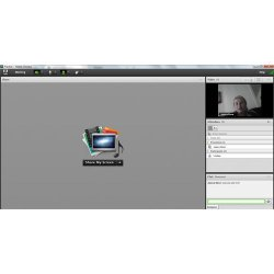 Adobe Connect image: You can adjust the layout of the webcast to promote listening and collaboration.
