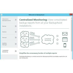 BackupAssist image: The centralized monitoring tab is where all the backup and restore reports are consolidated.