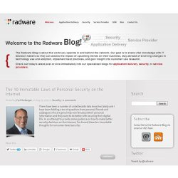 Radware image: The company blog offers a variety of articles about DDoS attacks and the various tools that are being used to protect you on both a consumer and business level.