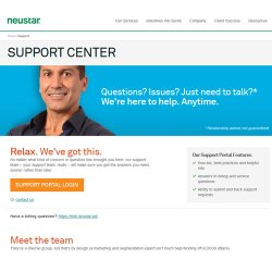 Neustar SiteProtect image: You can contact support representatives at any time.