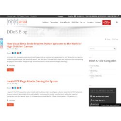 DOSarrest image: The company blog offers articles about news and trends associated with DDoS protection services.