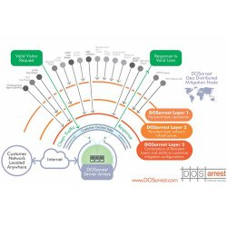 DOSarrest image: This chart displays how DOSarrest protects your website from widespread attacks.