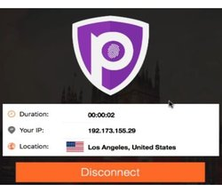 Once connected, PureVPN gives you an IP address so your personal address can't be traced while you're online.