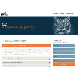 Tax Tiger image: You can look through Tax Tiger's FAQs page for answers to common questions.