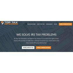 Top Tax Defenders image: You can have a free consultation with the tax professionals at Top Tax Defenders.