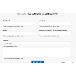 Top Tax Defenders image: You can request a free consultation by filling out an online form.
