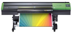 The printer serves up color using UV ink, which is slow to print but highly resistant to weathering.