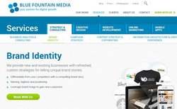 Blue Fountain Media image: In addition to its web design services, this company can help you update or create a brand for your business, such as a new brand name, logo or image.