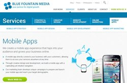 Blue Fountain Media image: Most web design companies offer responsive design, which ensures your website looks great on smartphones and tablets as well as computers, but this company also offers app design.