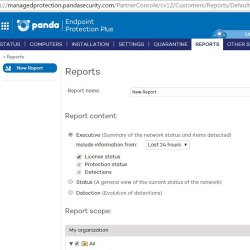 Panda Endpoint Protection Plus image: Creating a report is easy using the management console, which is supported by a web portal.