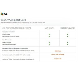AVG Internet Security Business Edition image: The report card feature allows you to quickly gauge your network's security.