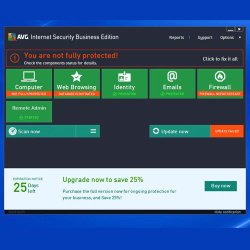 AVG Internet Security Business Edition image: The management console allows you to easily control your security components.