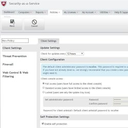 McAfee Security for Business image: Create permissions and policies that you can assign to specific users, giving the right amount of access based on user function.