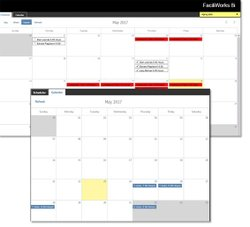 You can view current tasks on the calendar and schedule more tasks around those through this CMMS.