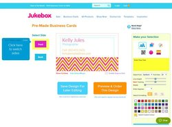 Jukebox Print image: The service has an online design tool you can use to edit pre-designed templates.