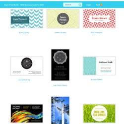 Jukebox Print image: This service has a large selection of pre-designed business cards.