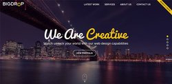 Big Drop image: You can get an idea of the type of website this company can create for you based on its own website.