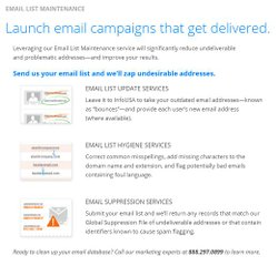 InfoUSA image: It regularly updates its email database to prevent bounces.