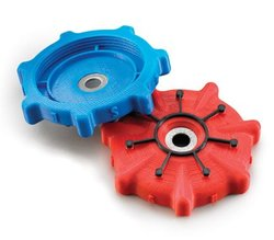 These small gears are example prints from the Fortus 250mc.