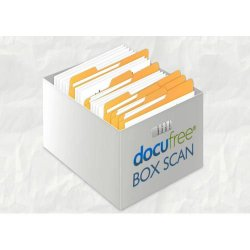 Docufree image: Docufree prices its scanning services by the box.