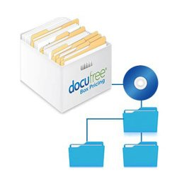 Docufree image: Your scanned documents are saved to the cloud and to CD or DVD.