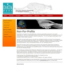 Data Dash image: Data Dash helps nonprofits deposit contributions in a timely manner.