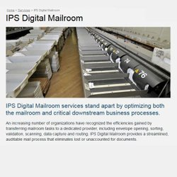 IPS image: Your mail can be rerouted to IPS centers and directed into your digital repository.